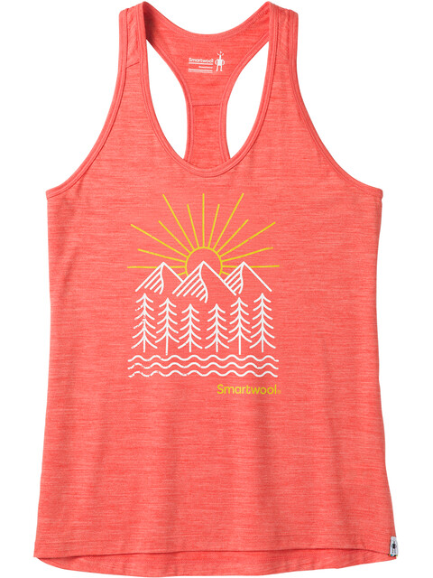 Smartwool Merino Sport 150 Mountain Morning Tank Women Light Habanero Heather